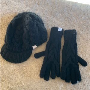 Cabelas knit hat and gloves